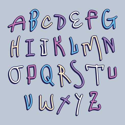 Alfabeto de graffiti colorido
