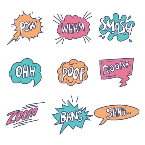 Onomatopeia Comic Pop Art