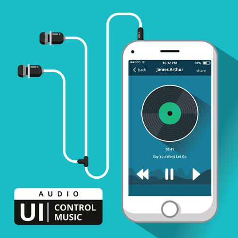 ljud musik kontroll ui
