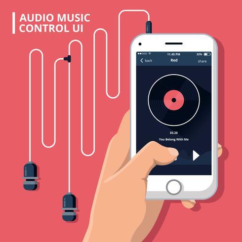 Contrôle de musique audio Ui