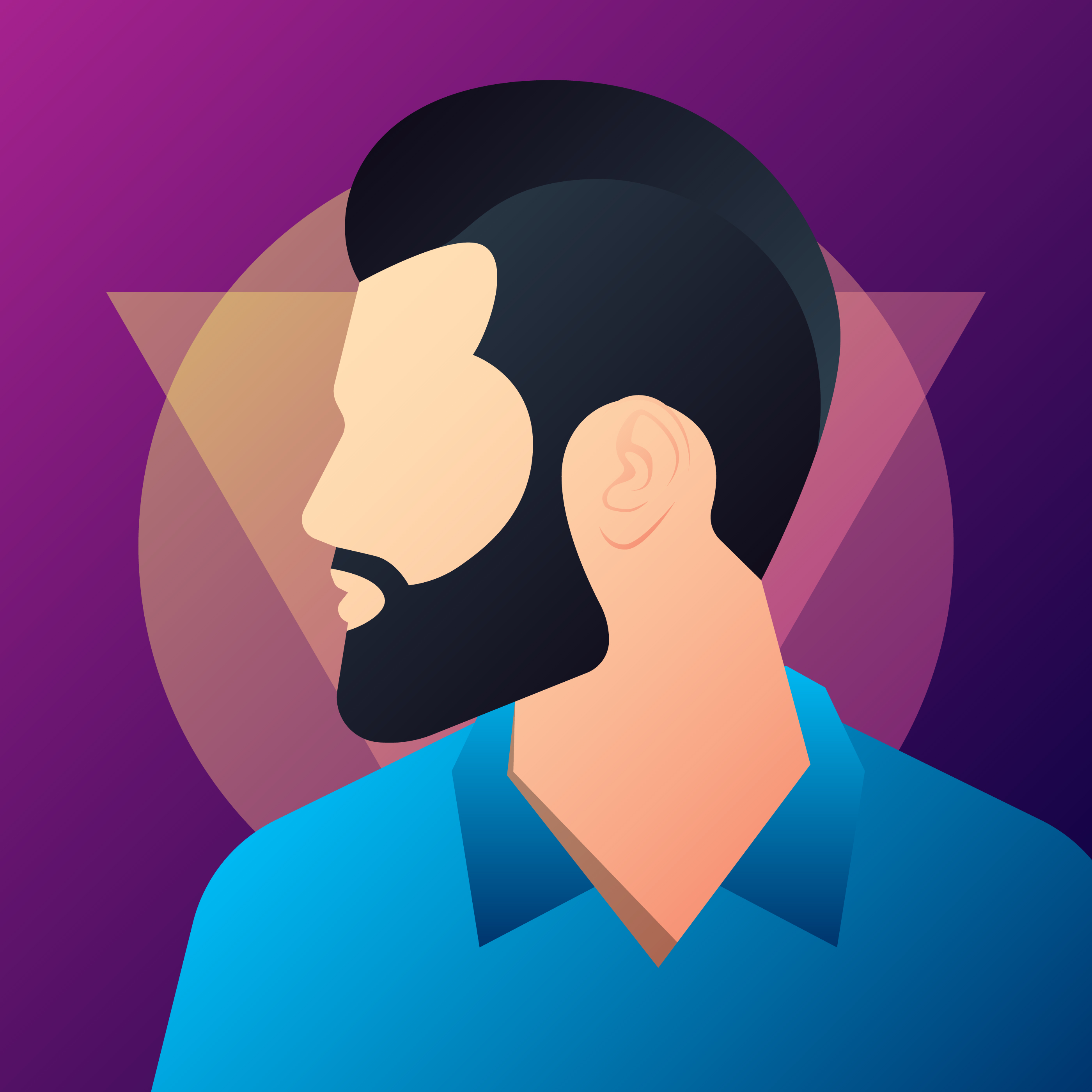 Hipster Man Silhouette With Mustache And Beard ...