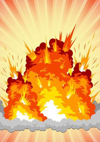Explosión de bomba vector