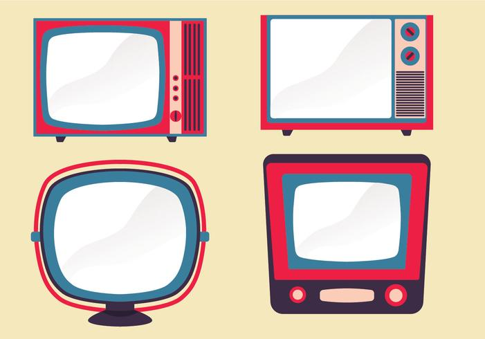 Retro Television Set Vector Pack