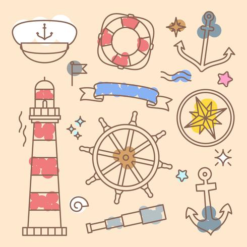 Vecteurs d'éléments nautiques uniques