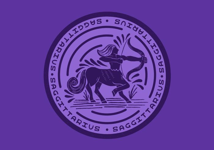 sagittarius centaur zodiac badge