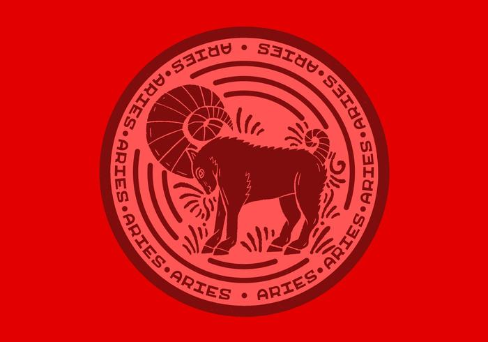 aries zodiac badge
