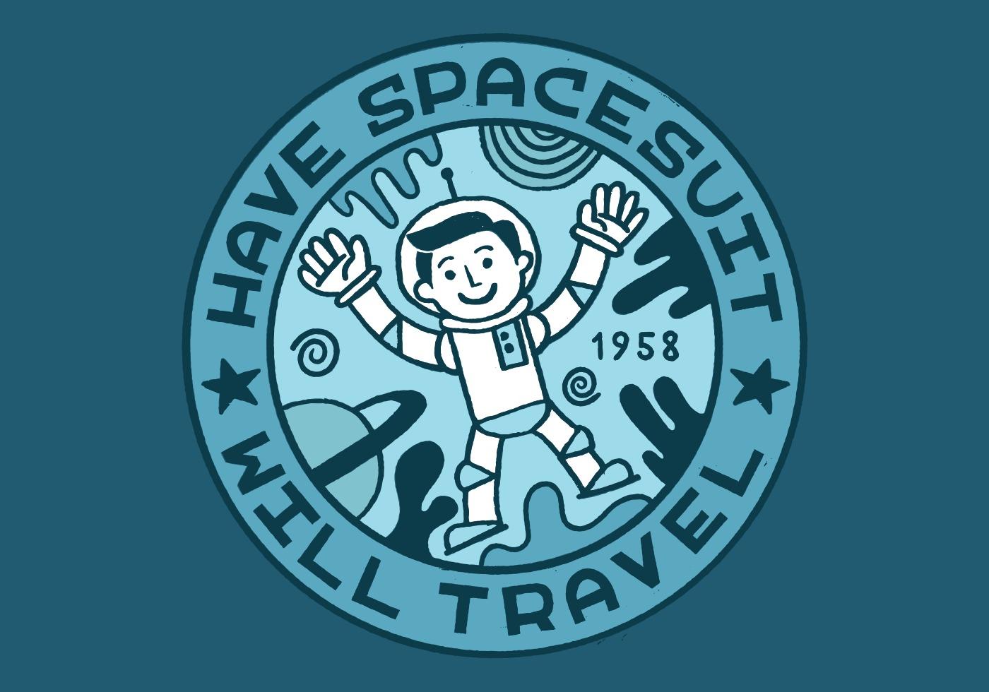 space man merit badge - Download Free Vector Art, Stock ...