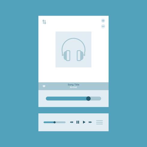 blauwe muziekcontrole