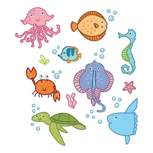 Cute Animals From The Ocean Kingdom