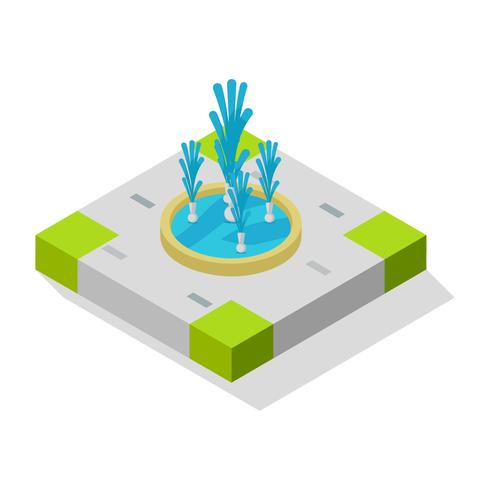 Beautiful Fountain Vectors