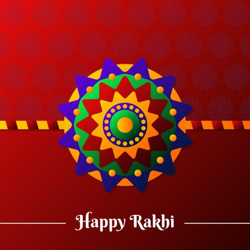Beautiful Colorful Rakhi Design Illustration
