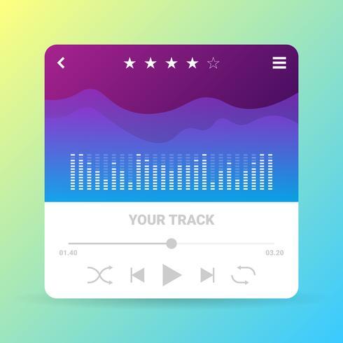 Painel de controle de música da interface do usuário