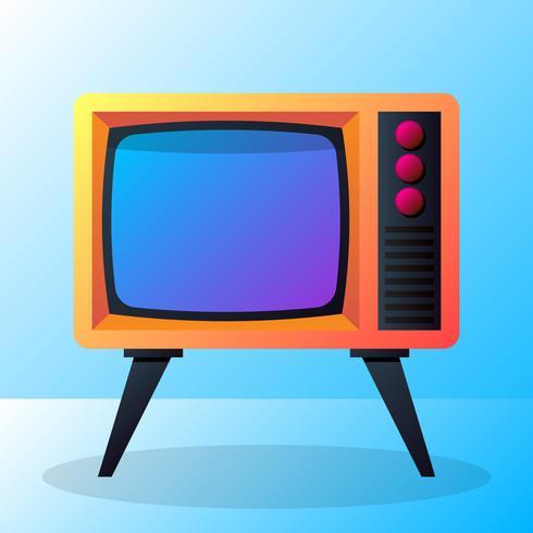 Ilustración de televisión retro