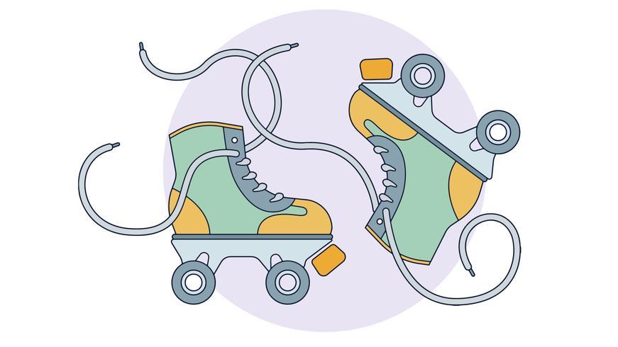 vector de patines de derby
