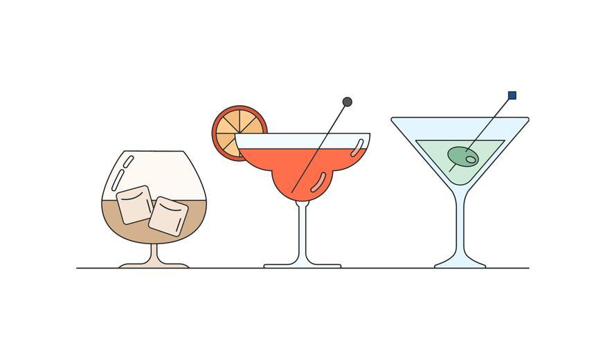 Vector de bebidas
