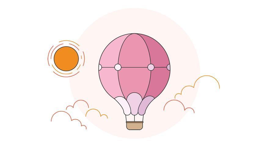 Hete lucht ballon Vector