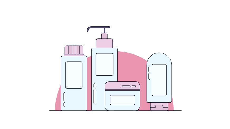 Körperpflege-Vektor