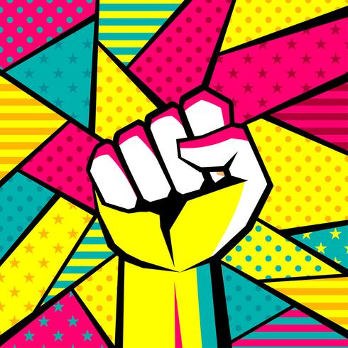 Hand Gesture Modern Pop Art Vector
