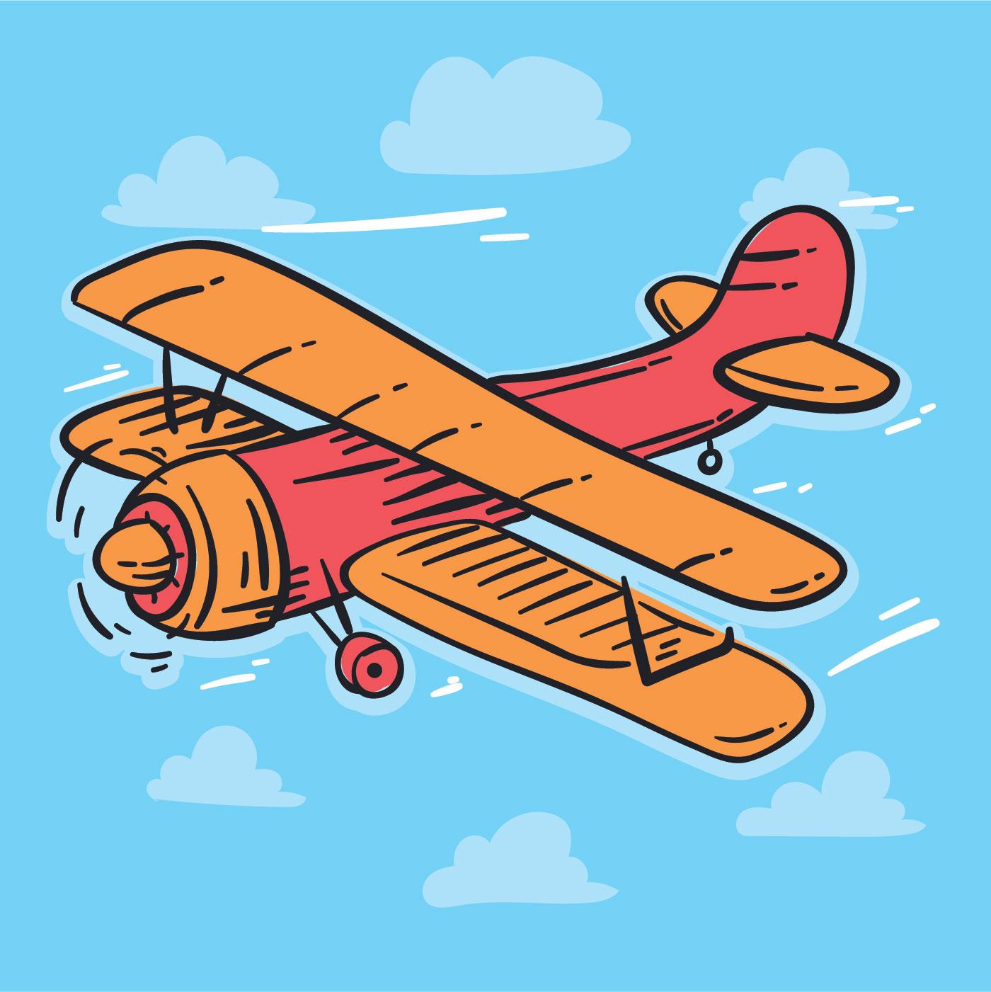飛機插畫 免費下載   天天瘋後製