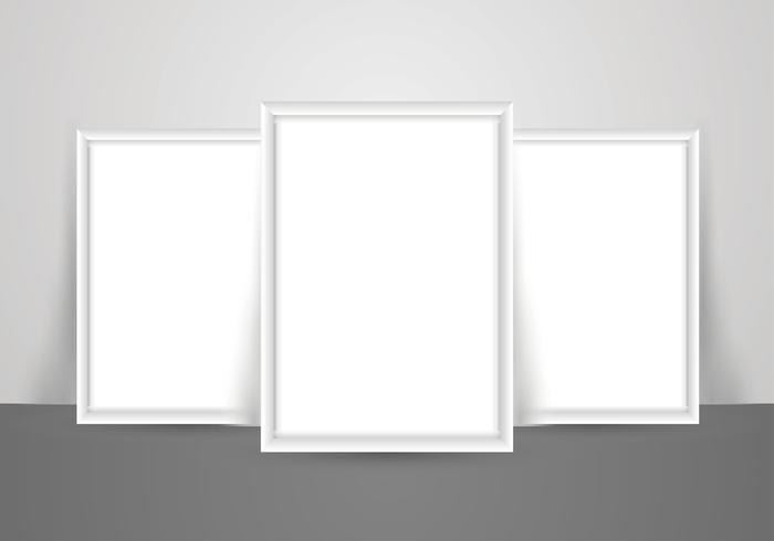 Blank White Poster Mockup for Pictures