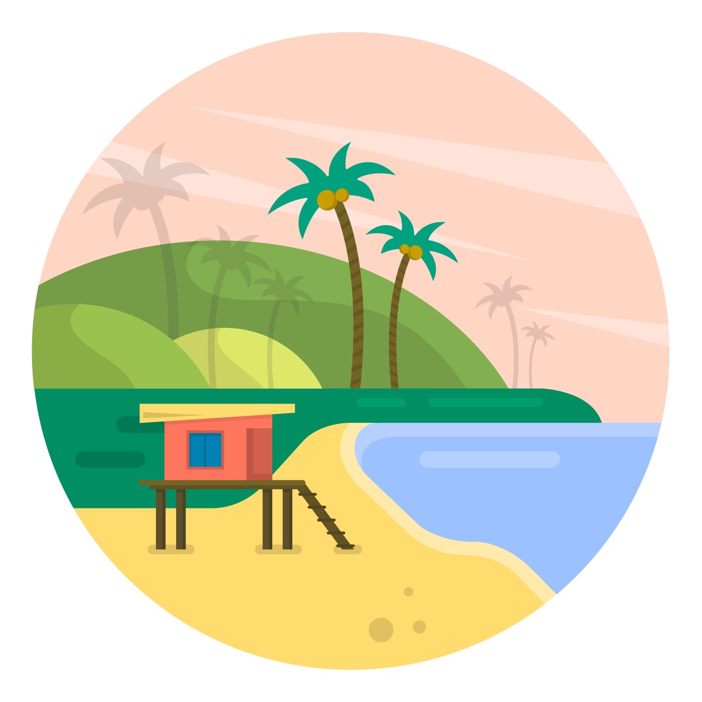 Beach Landscape - Download Free Vectors, Clipart Graphics ...