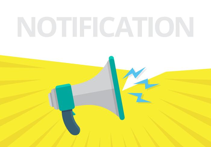 Megaphone for Web Notification. Loudspeaker for Notification Alert.