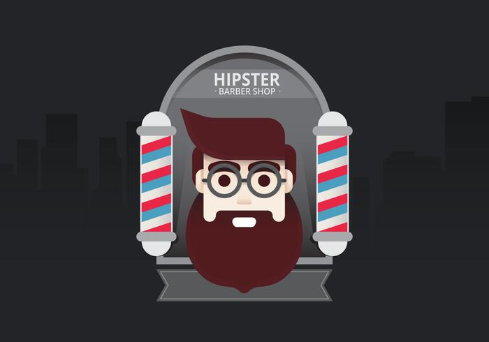 Hipster Lifestyle. Hipster Man in Barber Shop for Lifestyle Illustration. Young Man Hipster Inside Barber Shop in City.