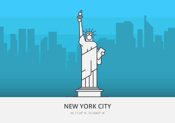 Frihetsgudinnan, USA Landmärke Ikon