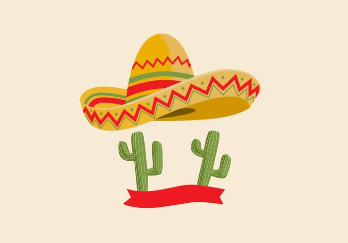 Sombrero-Vektor-Illustration