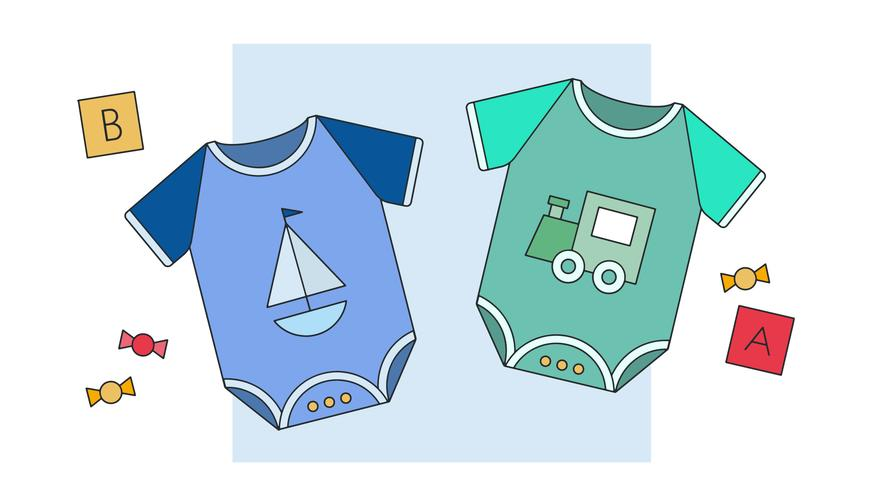 Baby Boy Clothes Vector