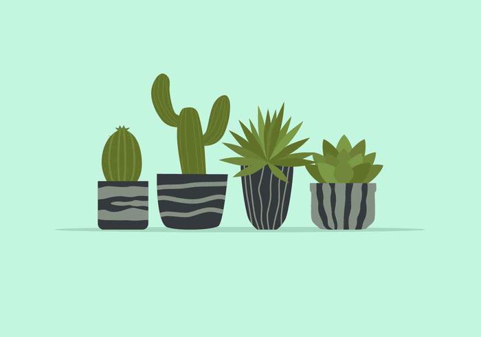 Illustration vectorielle de plante en pot