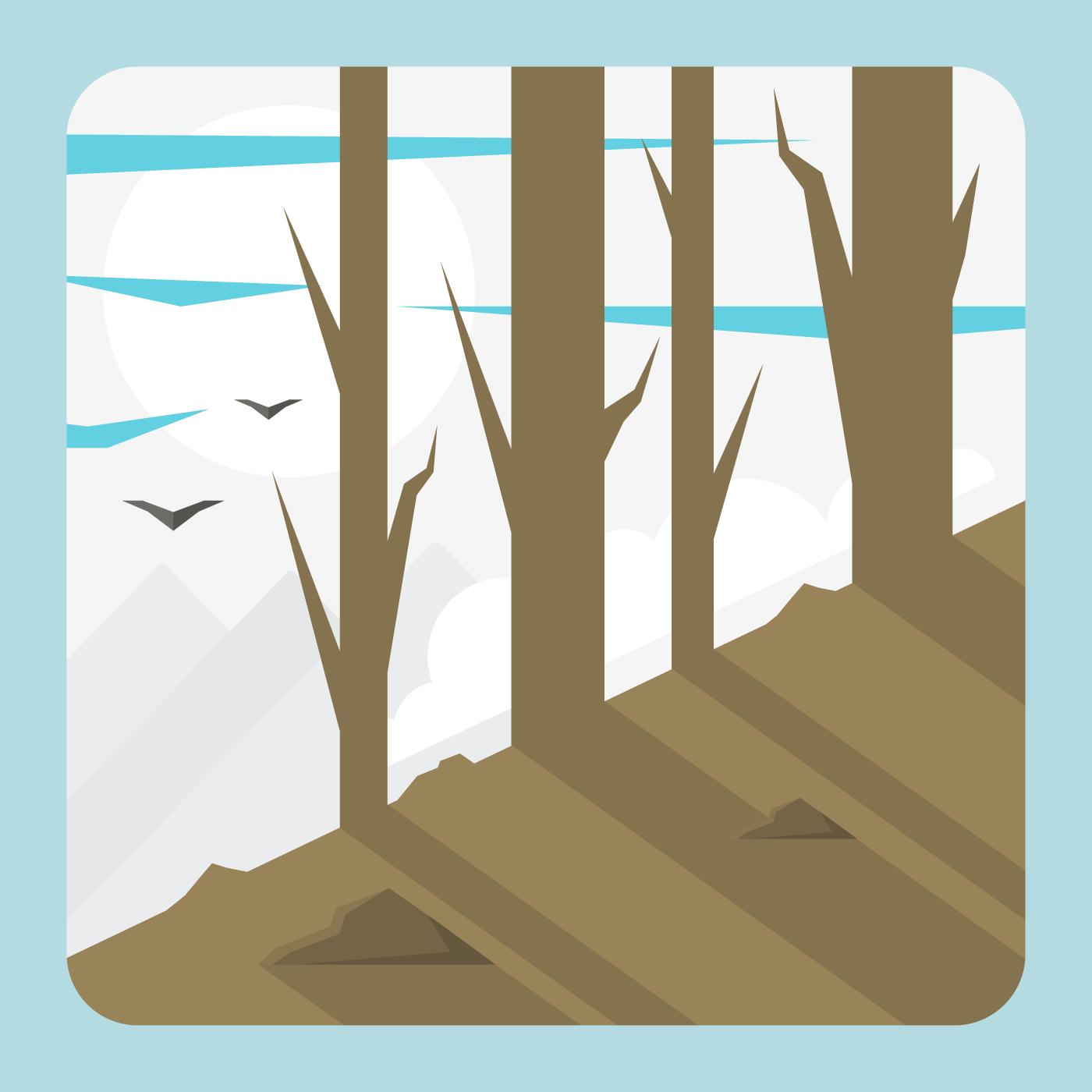 Landscape Illustration Vector Free: Download Free Vector Art, Stock