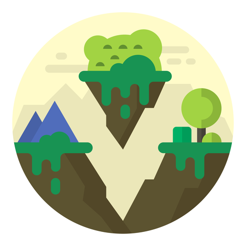 Landschap illustratie