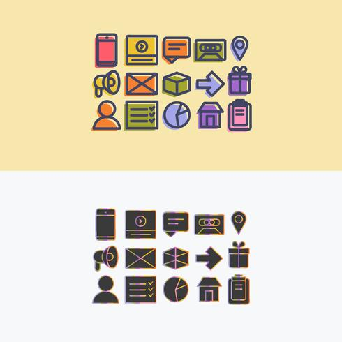 Vector Colorful Icon Set