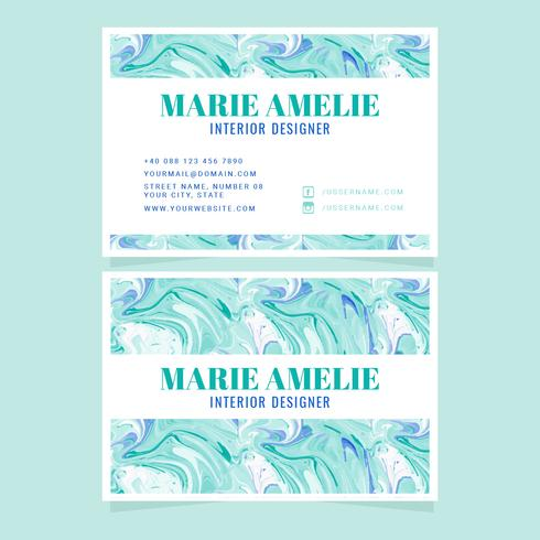 Vector Marble Effect Business Card