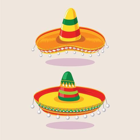 Illustration av Set Sombrero Hat