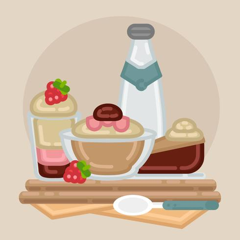 Vector Outline Dessert Illustration
