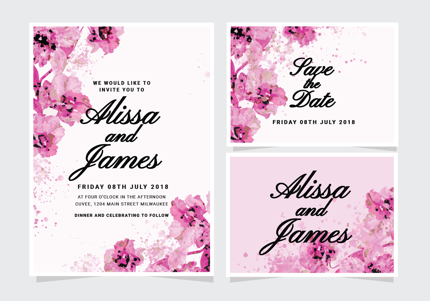 Floral Invitation Free Vector Art 12595 Free Downloads