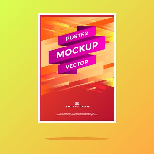 Abstract Poster mockup Vector