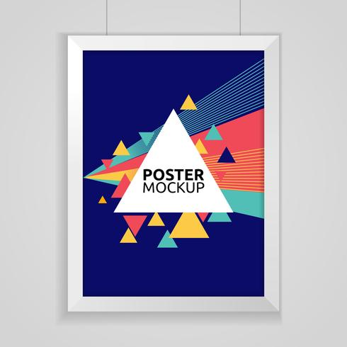 Poster mockup vector