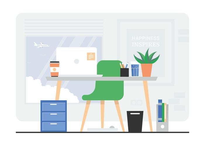 Ilustración de sala de oficina de vector