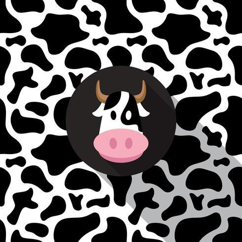 Fondo de impresión de vaca