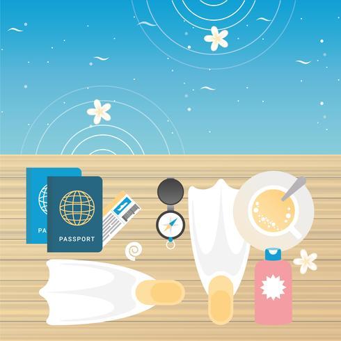 Vector Summer Accessories Illustration