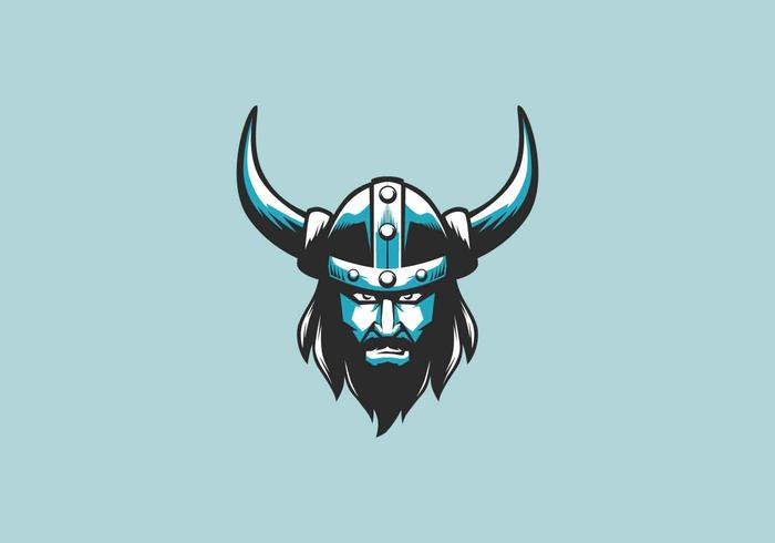 Viking-Maskottchen-Logo-Vektor-Illustration