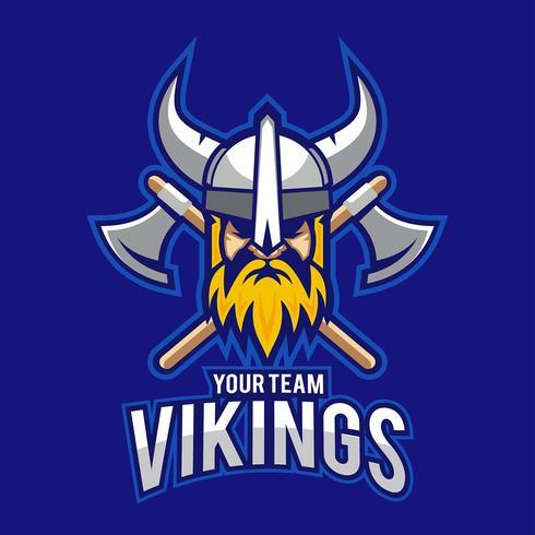 Vetor azul de viking