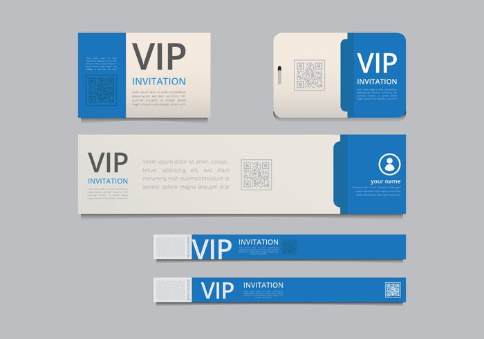 VIP Pass ID card Template. VIP Pass for Event Template. Realistic ...