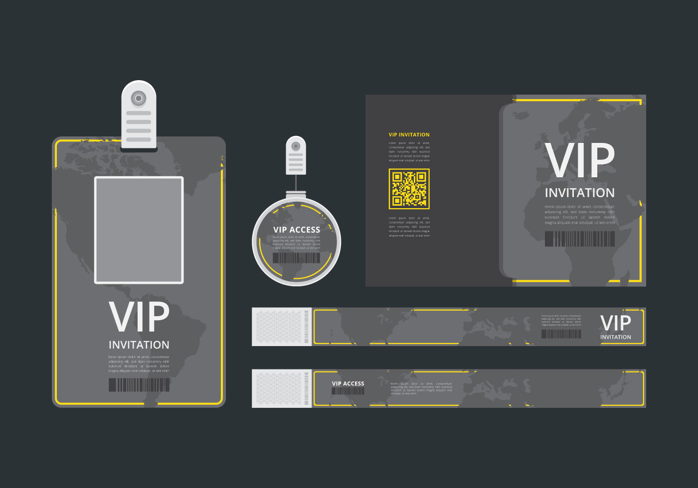 Vip Pass Id Card Template Vip Pass For Event Template