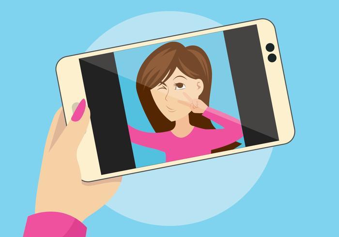 illustration vectorielle selfie