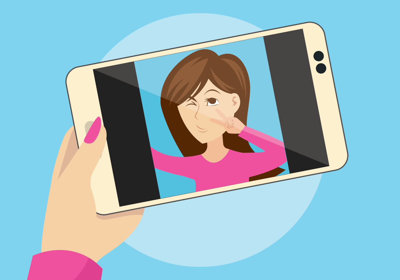 Selfie Vector Illustration - Download Free Vector Art, Stock Graphics  Images-6295