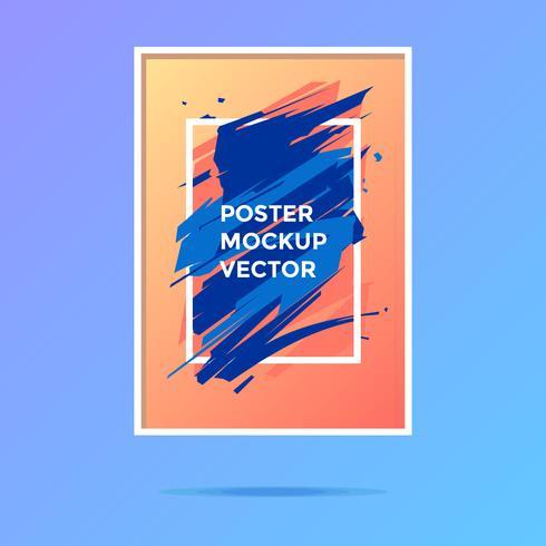 Modern Art Poster Mockup Vector